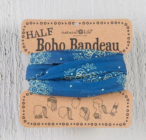 Indigo Cream Mandala Natural Life Half Boho Bandeau Wear 7 Ways//FACE MASK