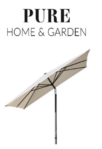 Parasol Sunrise 2,5 x 2,5 m Manivelle Parapluie Jardin Parapluie knickbar alu rectangulaire