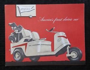 1950s Club Car E Z Go Golf Cart Sales Brochure Minty Pre Textron