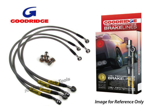 Goodridge For Ford Cougar Braided Brake Kit Lines Hoses