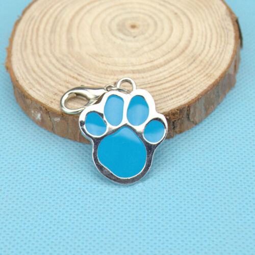Animal Dog Cat Pet Paw Print Stainless Steel Pendant Necklace Charm Tag ODCA