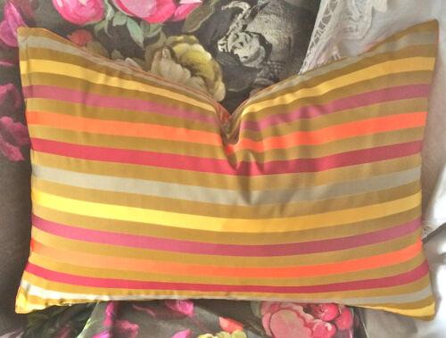 """Designers Guild prestigieux tropical à rayures tissu 20 /""""x 13/"""" renforcer Couverture #"""