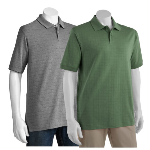 3XLT MSRP $54 New Haggar Men's Work to Weekend Grid Easy-Care Polo Big/&Tall 2XB