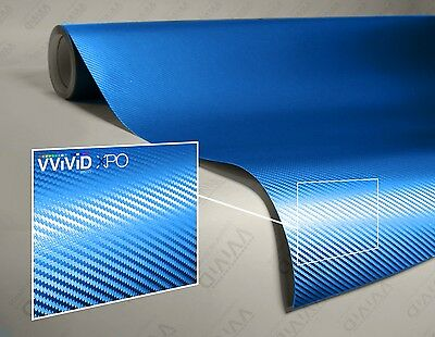 1ft x 5ft Black 3D Carbon Fiber Vinyl Wrap Roll with VViViD XPO Air Release Technology