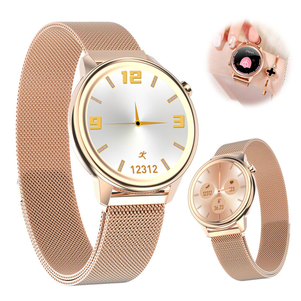 Smart Watch Heart Rate Monitor Women Luxury Bracelet Temperature Blood Pressure blood bracelet heart luxury monitor rate smart temperature watch women