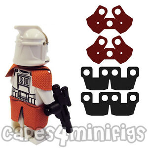 CUSTOM Lego Starwars Capes (2x Shoulder + 2x Kama Waist Armour). CAPES ONLY