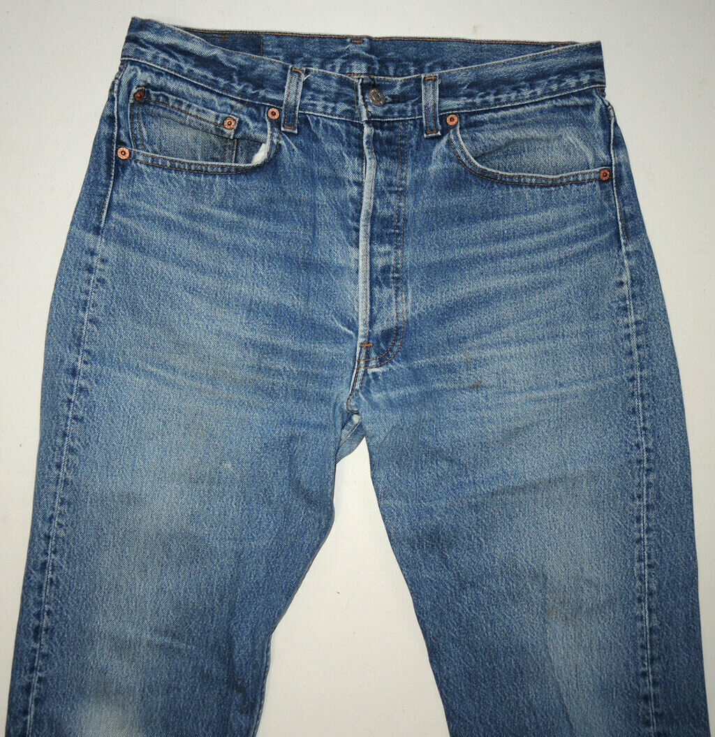 Vtg 90s Levi's 501 Jeans Made In USA Faded 32.5x2… - image 3