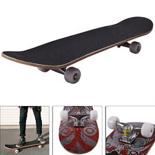 """Adult Professional Skateboard Wheel Trucks Maple Deck 31"""" x 8"""" Wood 220LBS Max"""