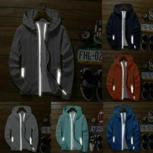 Men-039-s-Tops-Sports-Waterproof-Windbreaker-ZIPPER-Jacket-hoodie-Light-Outwear-Coat