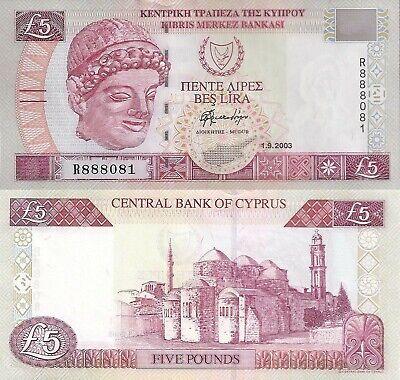 61b 5 Pounds 1.9.2003 Cyprus banknote P UNC WE COMBINE