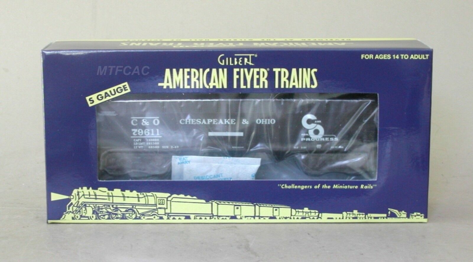 Lionel American Flyer 6-44058 C&O 3-Bay Hopper Car 79611