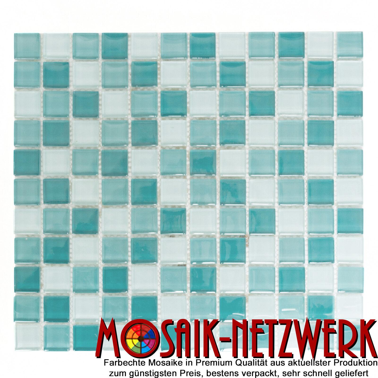Glasmosaik mix hellgrün grün Fliesenspiegel Küche Wand Art  72-0602   10 Matten