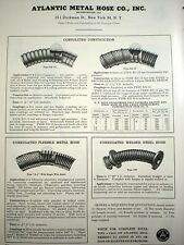 1958 ATLANTIC METAL HOSE Co. ASBESTOS packing Ad