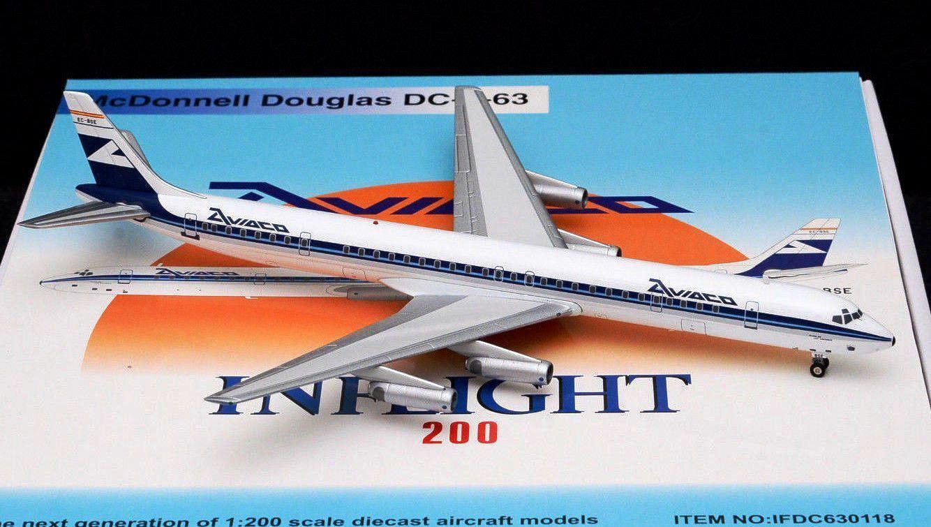 Inflight 200 fertilizantes 630118 1/200 Aviaco DC-8-63 CE-la EEB con Soporte