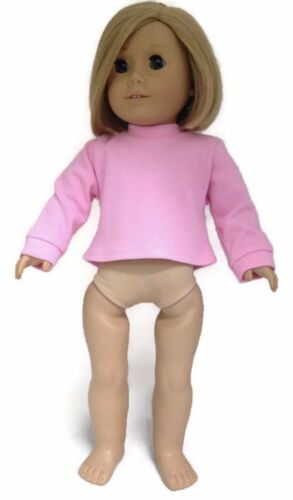 """Long Sleeved Pink Knit Top Shirt made for 18/"""" American Girl Doll Clothes"""