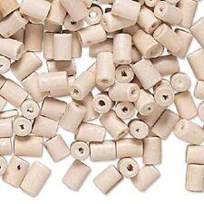 1089NB Bead, Wood, White Natural, Tube, 6x3mm, 500 Qty