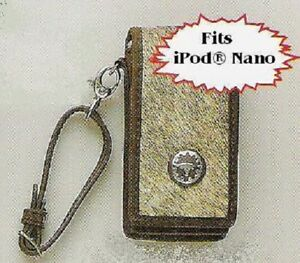 Belt-Clip-iPod-Nano-CASE-Western-Hair-Leather-BROWN-81