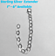 925-Sterling-Silver-Oval-Link-Necklace-Bracelet-Extender-W-Lobster-Clasp-1-034-6-034 thumbnail 1