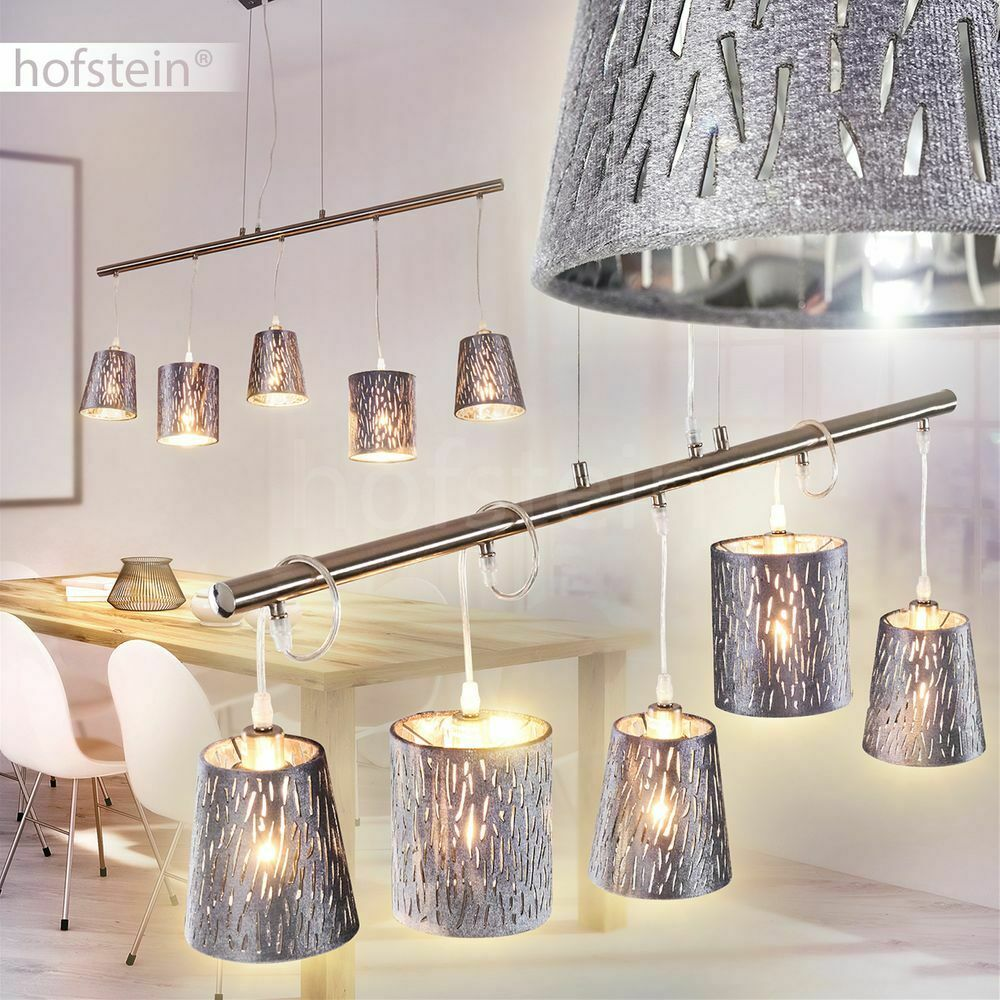 Moderne Hänge Pendel Beleuchtung 5-flammige Ess Wohn Schlaf Zimmer Lampen grau