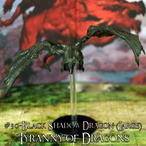 Black Shadow Dragon D/&D Tyranny of Dragons #30//45 - Dungeons /& Dragons
