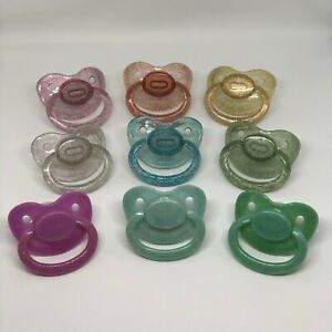 Glitter-Adult-Sized-Pacifier-Soother-Oral-Fixation-Little-Space-Age-Regression