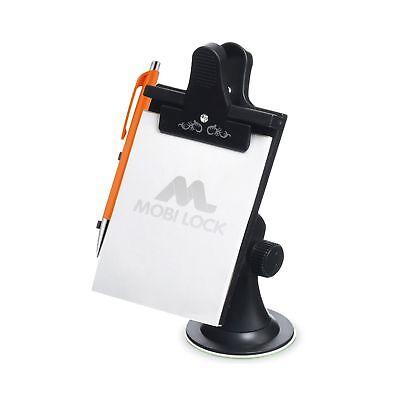 Universal Suction, Flexible Neck Mount Zento Deals Car Note Pad//Memo Pad//Clip Board