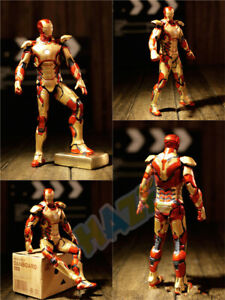 Iron-Man-Diecast-Mark-MK42-with-LED-Light-1-6th-Scale-Action-Figure-Collection