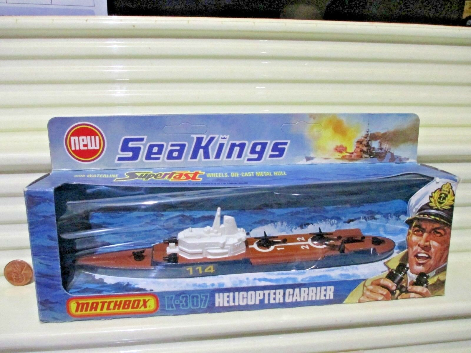 Rare Lesney Matchbox 1975 SEA KINGS K-307 HELICOPTER CARRIER Never Opened NuBoxd