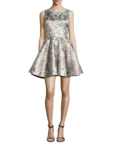 8 Party Olivia Us Alice 4 Ln Uk Metallic Dress Port OzxPIxTqw