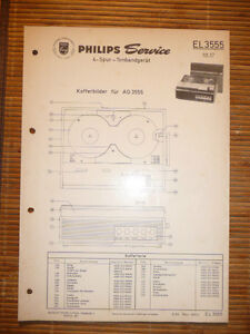 Original Service Manual Philips Tonbandgerät El 3555 Tv, Video & Audio