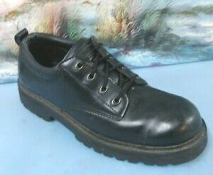 Skechers Tom Cats Black Leather Lace Up