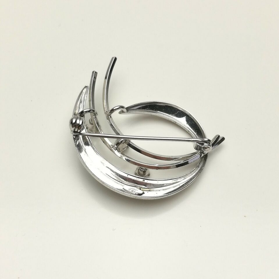 Broche, sølv, Kordes & Lichtenfels sølv broche med zirkon
