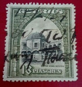 Cyprus-1934-Landscapes-and-Buildings-18-Pia-Rare-amp-Collectible-stamp