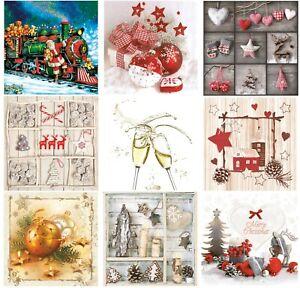 Christmas-Paper-Napkins-for-Decoupage-Craft-Serviettes-LUXURY-33x33cm-3PLY-x-20