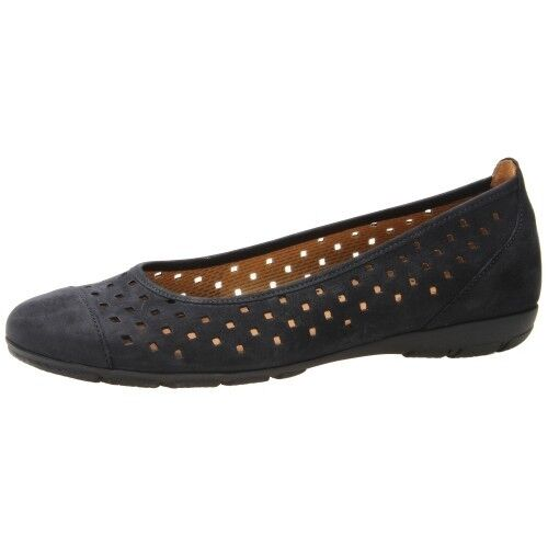 GABOR of SLIP-ON GERMANY WOMEN'S BALLET FLAT SLIP-ON of PERFORATED, MADE IN PORTUGAL 8de8f7