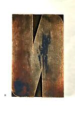 Large Wood Letter N Letterpress Print Type Printers Vintage Printing 8 Patina