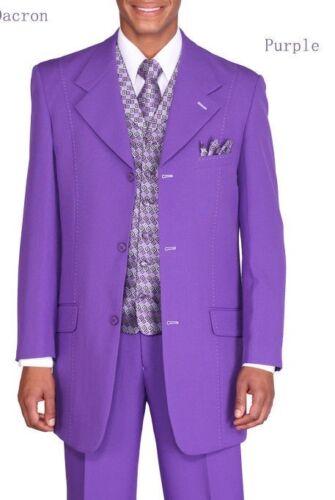 New Men/'s Stylish Fashion Suit+Vest+Tie+Hanky by Milano Moda Style 6802V