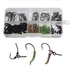 121Pcs-Carp-Fishing-Tackle-Kit-Carp-Rig-Ring-Stops-Boilie-Bait-Screw-Hook-Sleeve