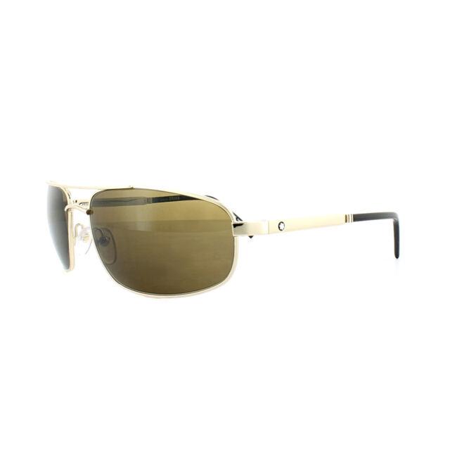 ee587ba26919 Mont Blanc DESIGNER Sunglasses Gold   Brown Mb650s 32j for sale ...