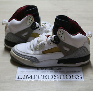 quality design 15457 a53e7 Image is loading NIKE-AIR-JORDAN-SPIZIKE-WHITE-CEMENT-GREY-RED-