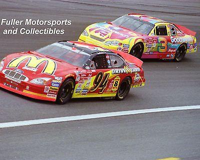 DALE EARNHARDT SR vs BILL ELLIOTT PETER MAX NASCAR WINSTON CUP 8X10 PHOTO