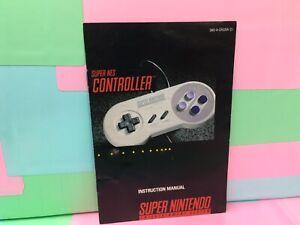Super-NES-Controller-SNES-Super-Nintendo-Instruction-Manual-Only