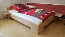 27mm Massivholz Bett 120x200 Gästebett Einzelbett Seniorenbett Buche Fuß II NEU