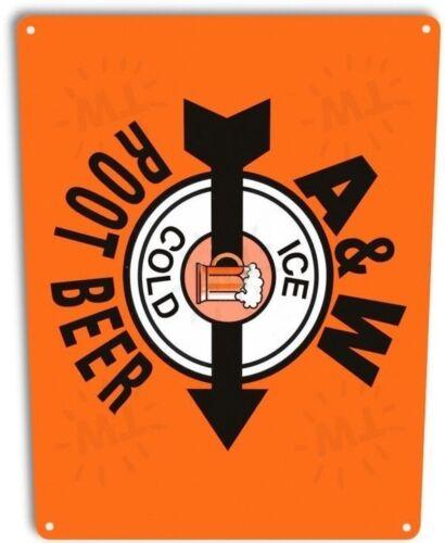 A/&W Root Beer Logo Pop Cola Soda Advertising Retro Decor Large Metal Tin Sign