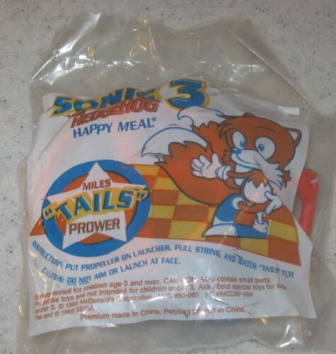 1993 Sega Sonic The Hedgehog McDonalds Happy Meal Toy Miles Tails