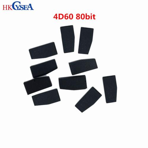 4D60 Carbon Auto Car Key Transponder Chip ID60 80Bit 4D Blank Chip