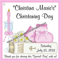 Unique Personalized Christening Or Baptism Party Favor Gift Tags