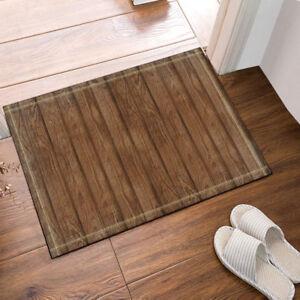 Details About Door Mat Bathroom Rug Bedtoom Carpet Bath Mats Non Slip Wood Floor Texture