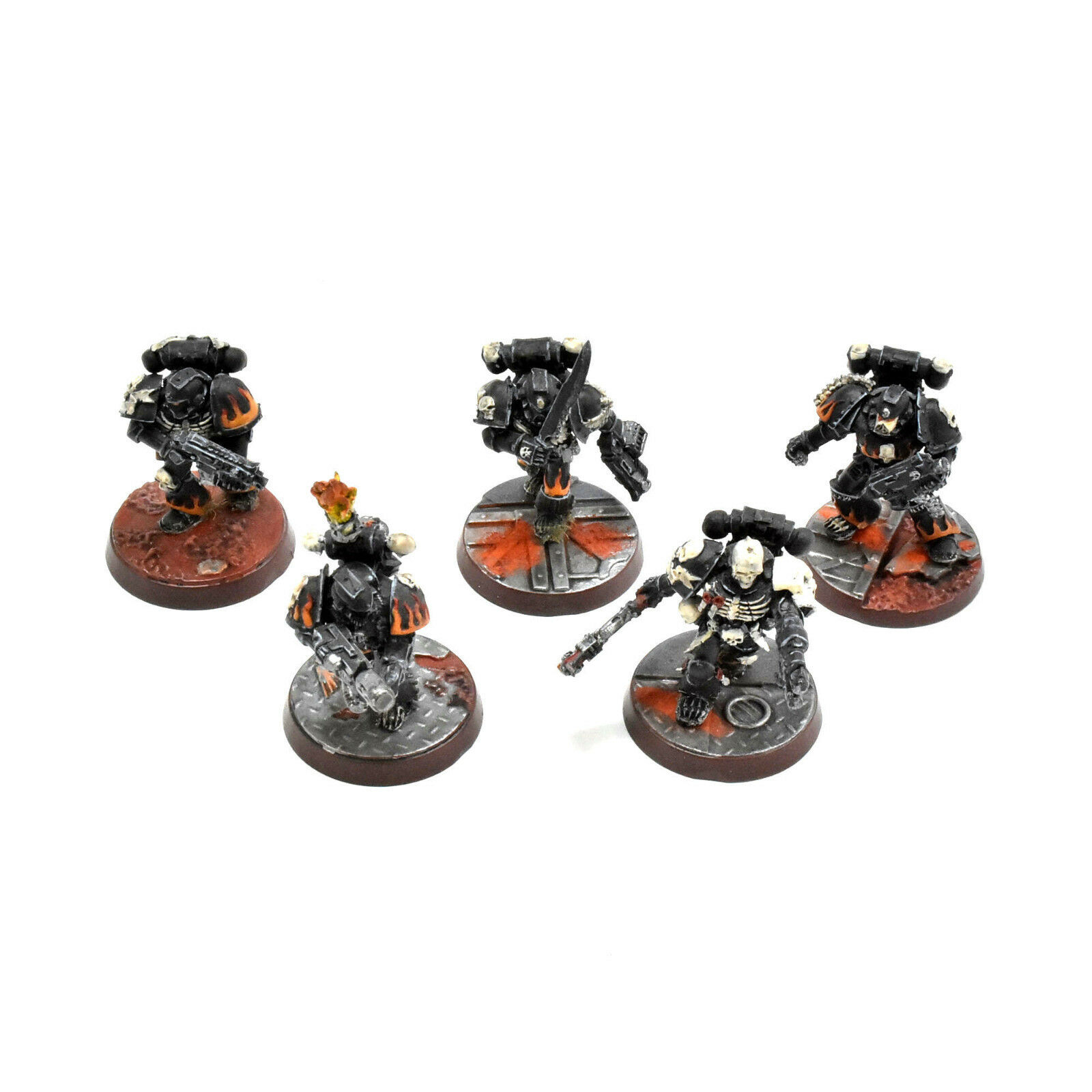 Space marines 5 der legion verdammt   2 gut gemalt warhammer 40k finecast