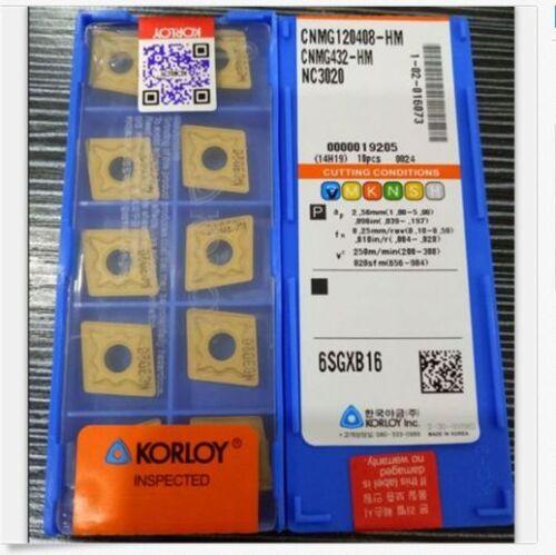 10pcs KORLOY CNMG120408-HM NC3020 CNMG432-HM Carbide Inserts